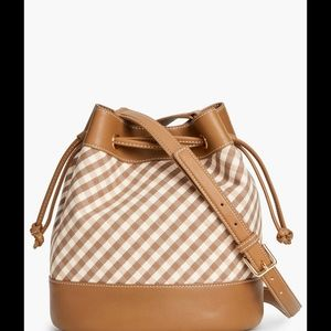 BNWT Talbot's Gingham Bucket Bag